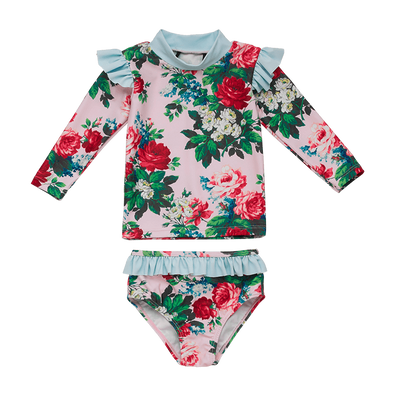 Cottage Garden Long Sleeve Baby Rashie Set by Rock Your Baby