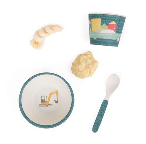 Cars Baby Bamboo Feeding Set by Love Mae