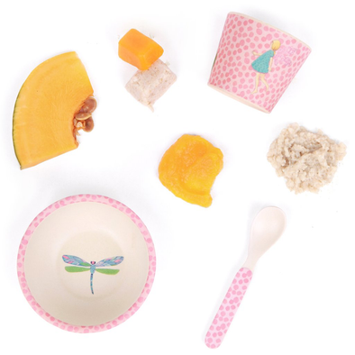 Fairy Garden Baby Bamboo Feeding Set by Love Mae