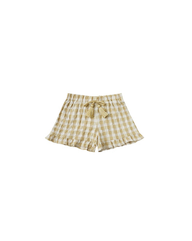 Cardiff Ruffle Short - Butter Gingham by Rylee & Cru