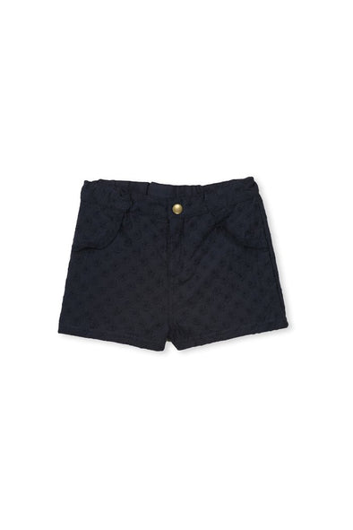 Navy Broderie Short by Milky
