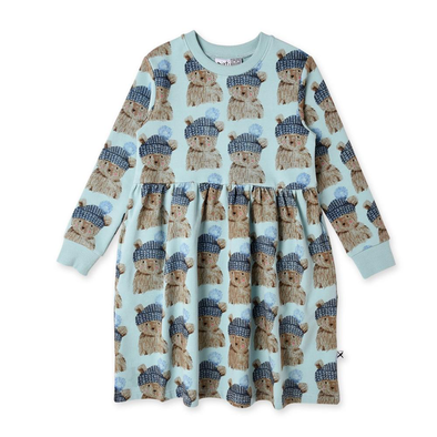 Toasty Teddy Furry Dress by Minti