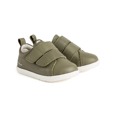BROOKLYN Khaki - 1st walker shoes by Pretty Brave