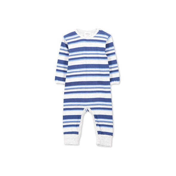 Multi Stripe Romper by Milky