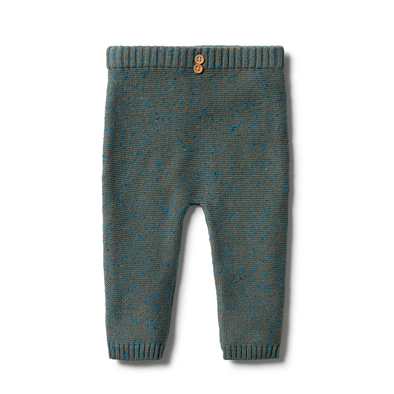 Knitted Ottoman Legging - Dusty Olive Fleck by Wilson & Frenchy