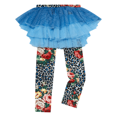 Blue Leopard Floral Circus Tights by Rock Your Kid