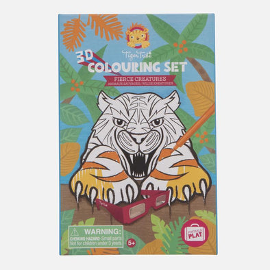 3D Colouring Set - Fierce Creatures by Tiger Tribe