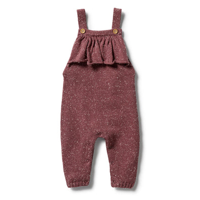 Knitted Ruffle Overall - Wild Ginger Fleck by Wilson & Frenchy