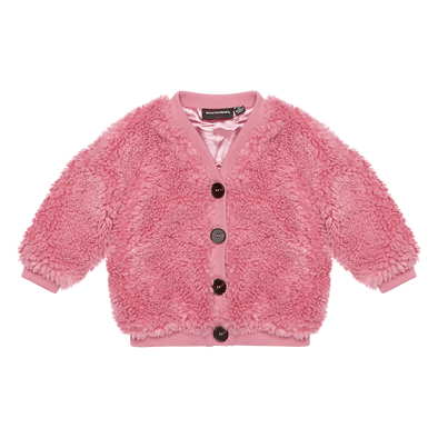 Pink Sherpa Baby Cardigan by Rock Your Baby