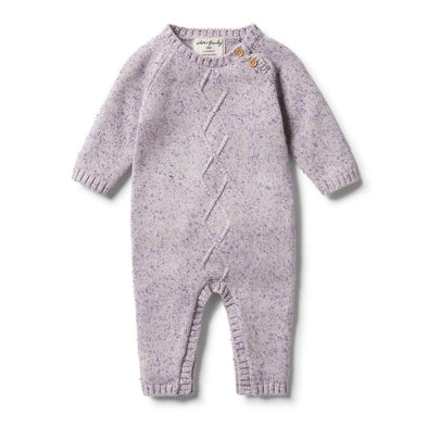 Knitted Cable Ruffle Growsuit by Wilson & Frenchy