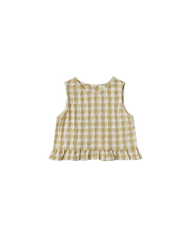 Leonie Top - Butter Gingham by Rylee & Cru