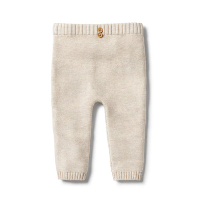 Knitted Ottoman Legging - Oatmeal Melange by Wilson & Frenchy