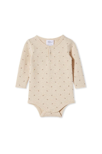 Natural Marle Rib Bubbysuit by Milky