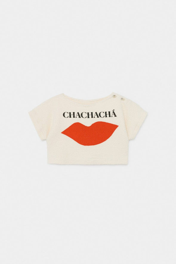 Chachacha Kiss Cropped Sweatshirt by Bobo Choses