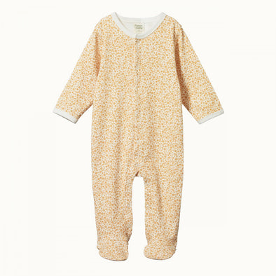 Cotton Stretch & Grow by Nature Baby - June's Garden Straw Print