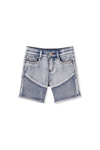 Baby Knit Denim Short by Milky