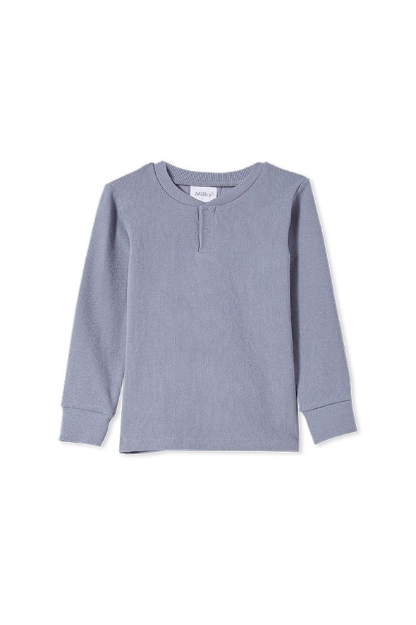 Cloud Rib Henley by Milky