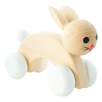 Wooden Push Along Rabbit - Cotton Tail