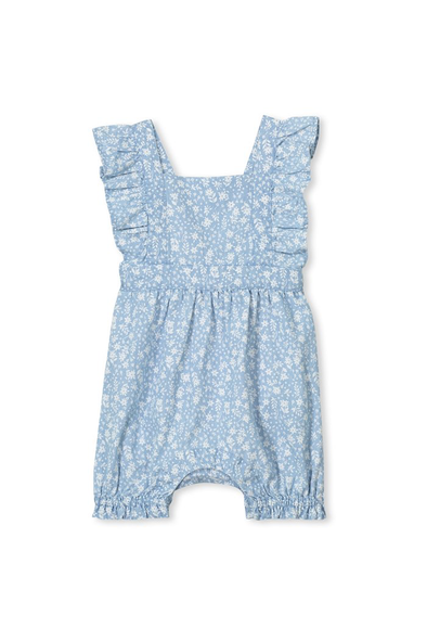 Denim Baby Playsuit by Milky
