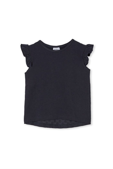 Broderie Back Tee by Milky - Midnight Blue