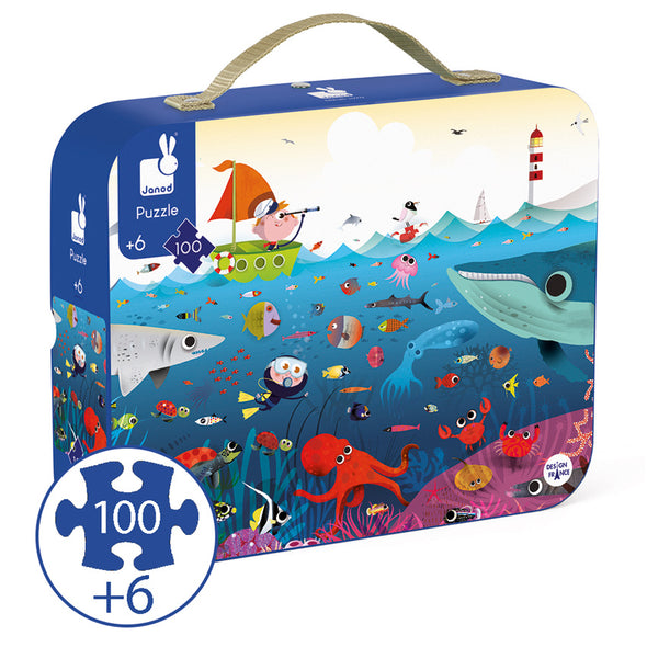 Janod - Underwater World Puzzle - 100 pieces