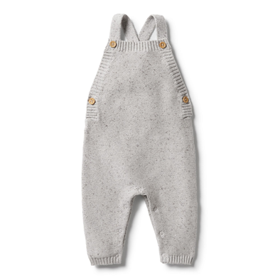 Knitted Overall - Glacier Grey Fleck by Wilson & Frenchy