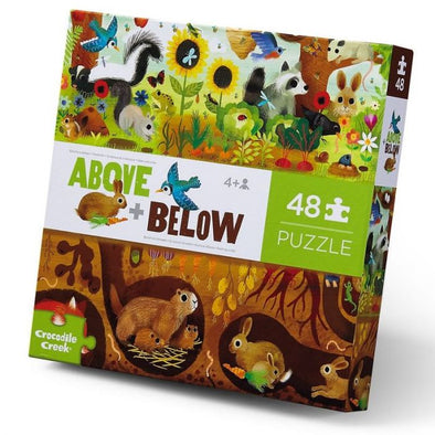 Above & Below - Backyard Puzzle (48 pieces) by Crocodile Creek