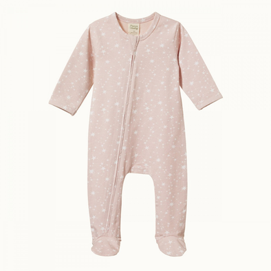 Dreamlands Suit by Nature Baby - Stardust Rose Bud Print