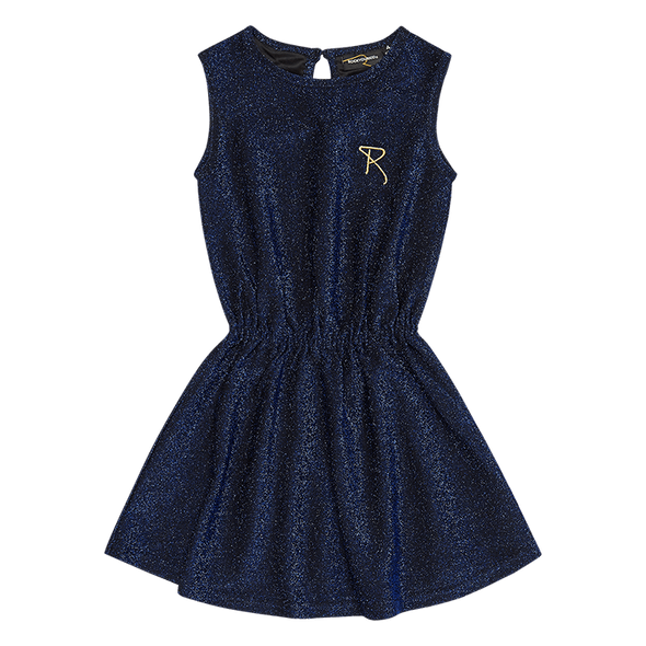 Blue Disco Sleeveless Dress by Rock Your Baby