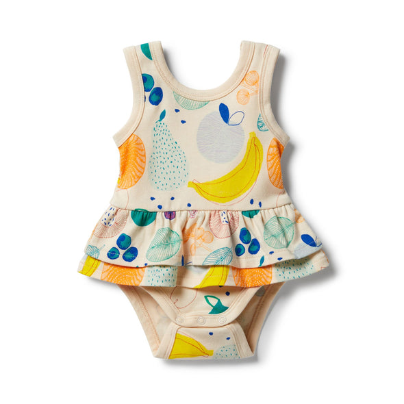 Fruit Loop Organic Ruffle Bodysuit by Wilson & Frenchy