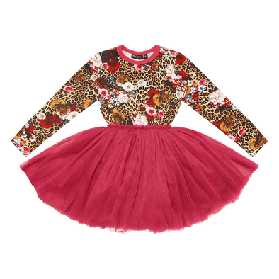 Pink Leopard Floral Circus Dress by Rock Your Kid