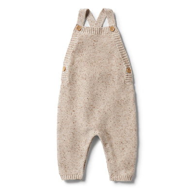 Knitted Overall - Oatmeal Fleck by Wilson & Frenchy