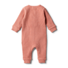Clay Waffle Zipsuit by Wilson & Frenchy
