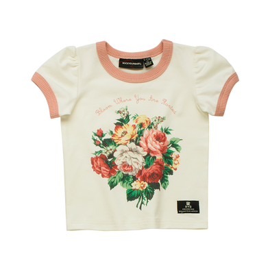 French Bloom Baby Short Sleeve Ringer T-Shirt by Rock Your Baby