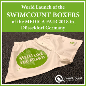 World Launch of the SWIMCOUNT BOXERS at the MEDICA FAIR 2018