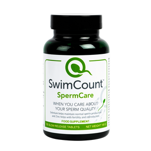 SwimCount™ SpermCare Food Supplement + FREE NEUTRAL PILL DISPENSER