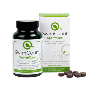 Combo deal 1: SwimCount™ Sperm Quality Test + SwimCount™ SpermCare Food Supplement