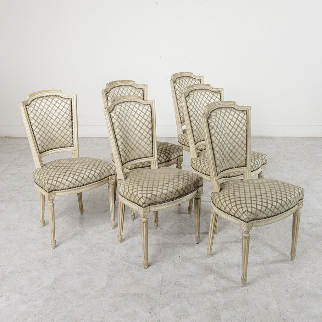 Set of Louis XVI Dining Chairs - Set Of Louis XVI Dining Chairs - French Metro Antiques