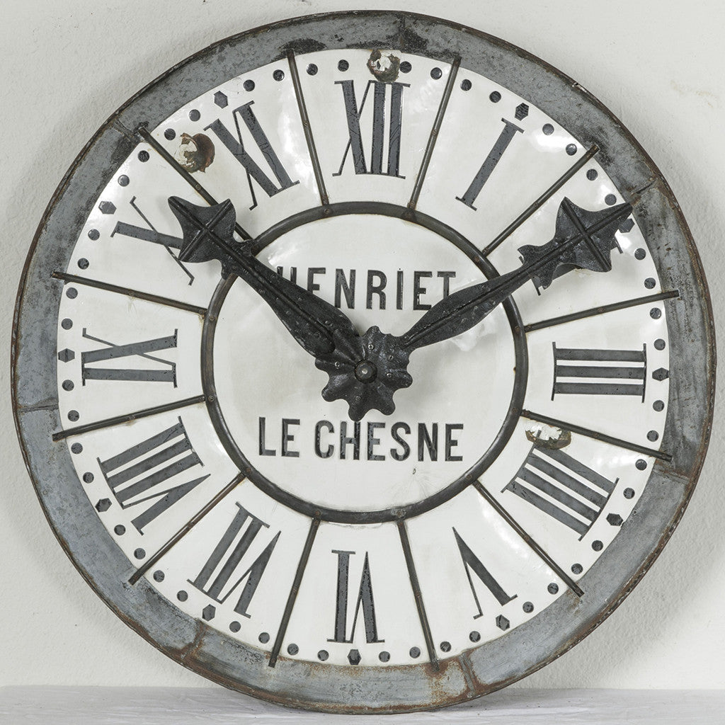 grand church clock face french metro antiques