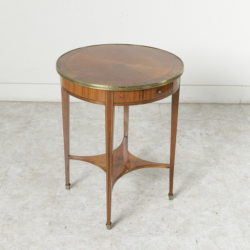 Art Deco Marquetry Side Table