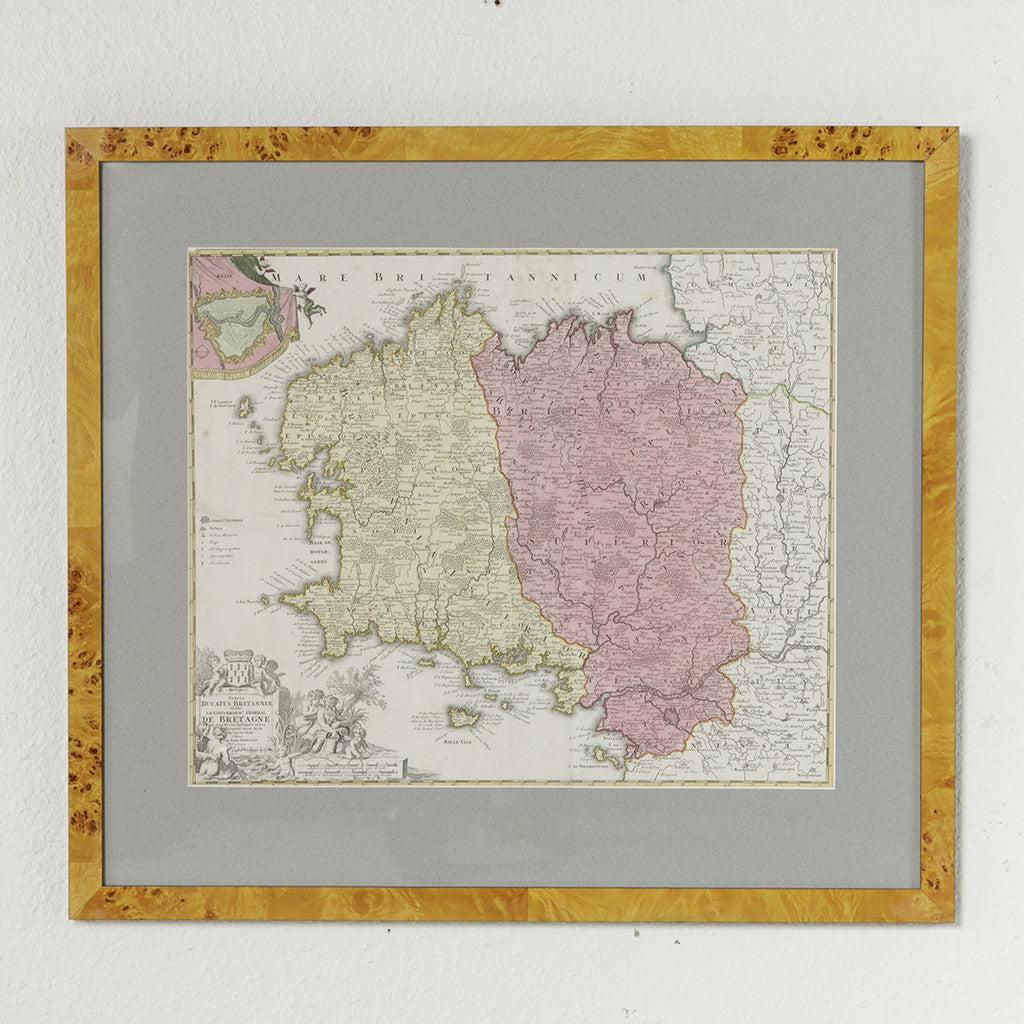Th Century Map Of Brittany French Metro Antiques - French metro map