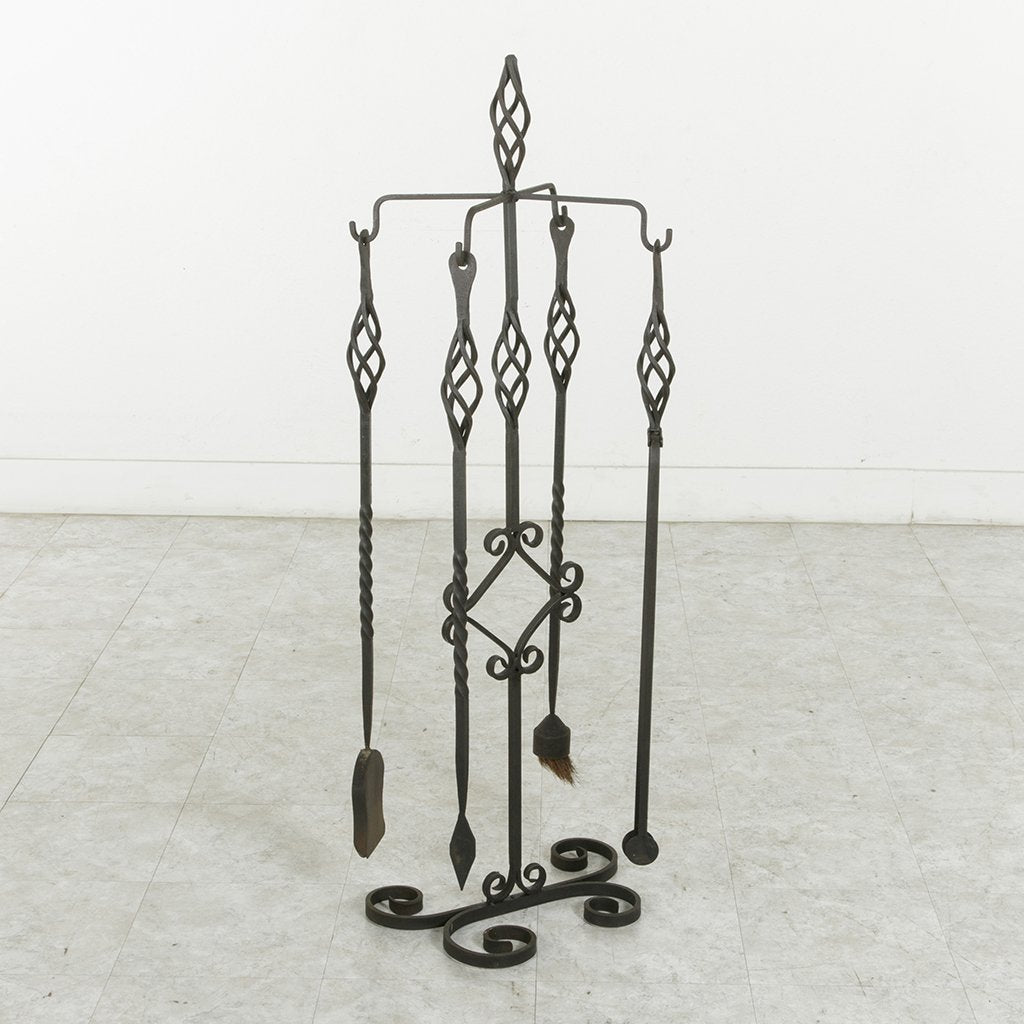 Large Iron Fireplace Tools ...