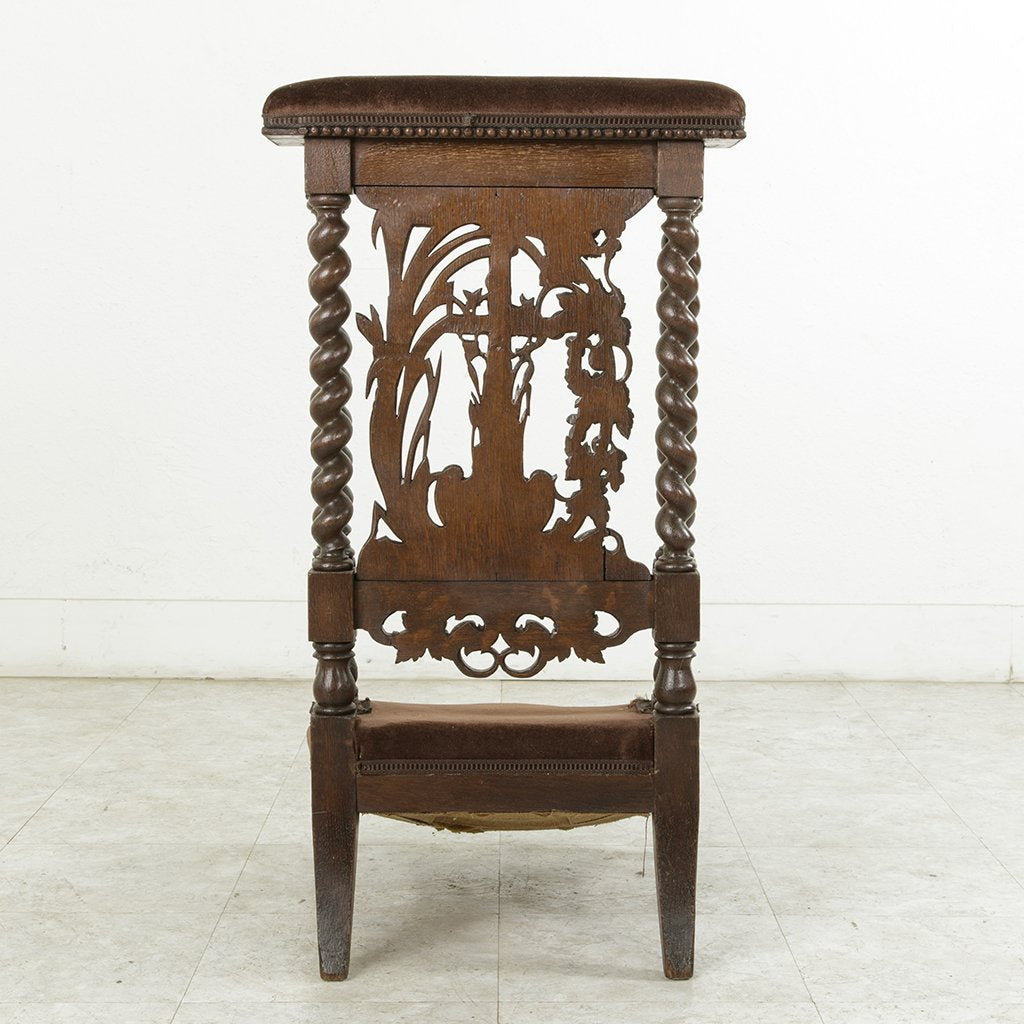 Hand Carved Prayer Chair
