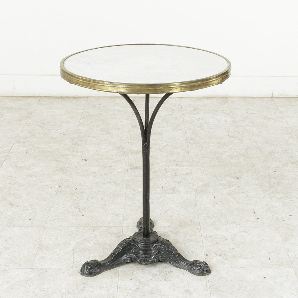 Iron And Marble Bistro Table