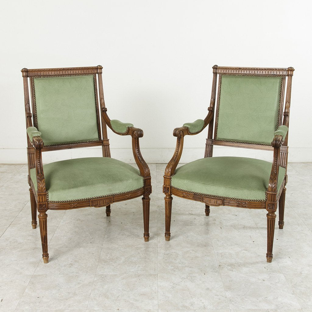 Pair Of Louis Xvi Armchairs French Metro Antiques