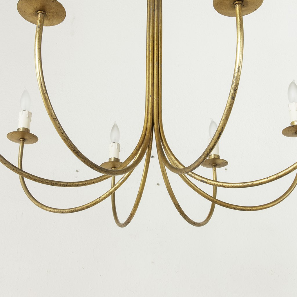 Mid Century Chandelier French Metro Antiques
