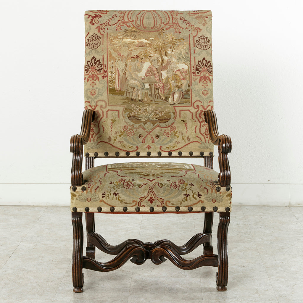 Louis XIV Style Tapestry Armchair
