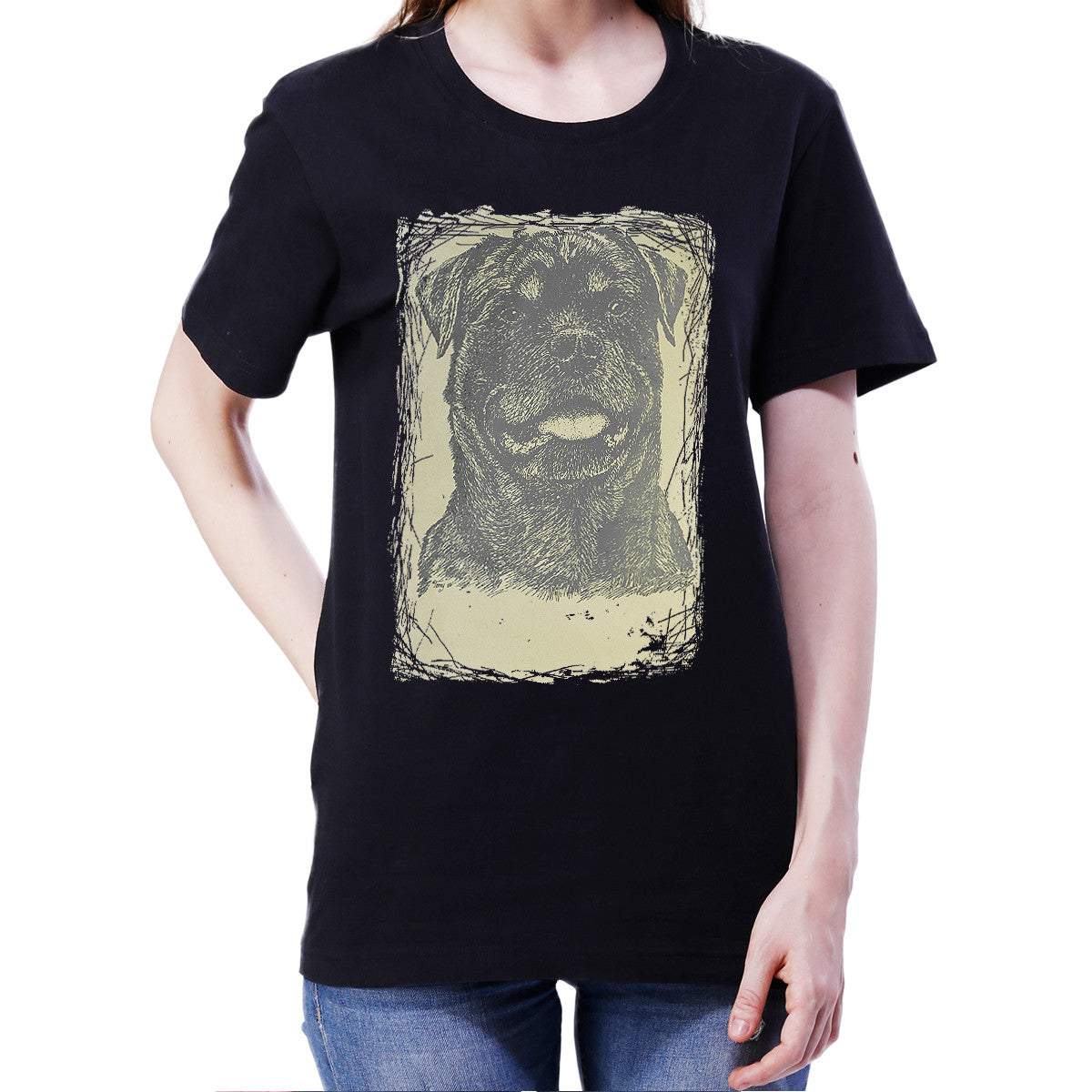 Limited Edition Rottweiler T Shirt Women Spun Tee