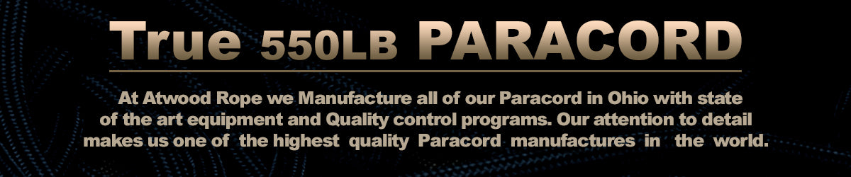 Atwood Manufactures paracord in Ohio with state of the art equipment
