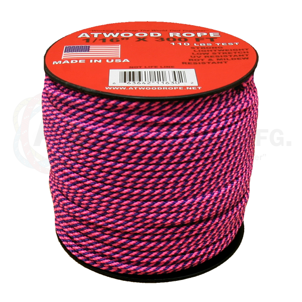 1/16 x 300ft Purple & Hot Pink Stripes